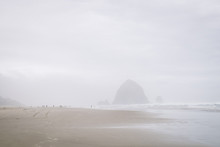 Haystacks Of Canon Beach In Th...