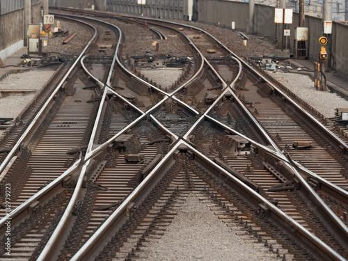 Foto op Aluminium Spoorlijn 線路