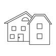 modern home style windows outline vector illustration eps 10