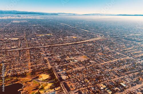 Zdjęcie XXL Widok z lotu ptaka Los Angeles
