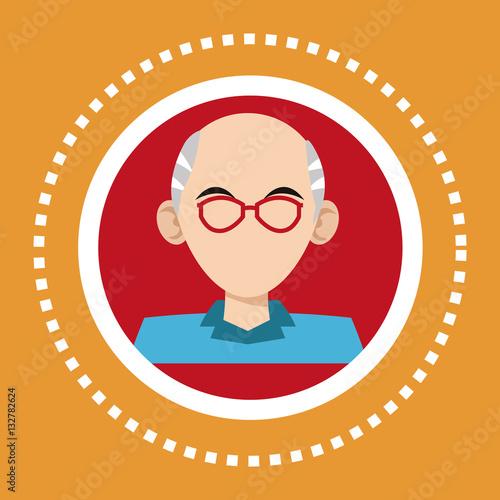 Papiers peints Avion, ballon character old man glasses social media vector illustration eps 10