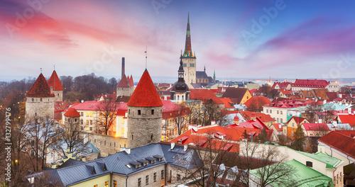 Photo  Tallinn city, Estonia at sunrise