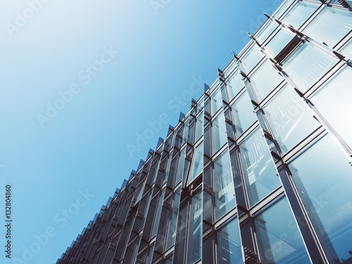 Fotografija  Modern Architecture Glass wall Building Abstract background
