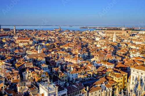 Fotografie, Obraz  Aerial view in winter from the San Marco Sqaure, Venice, Veneto, Italy