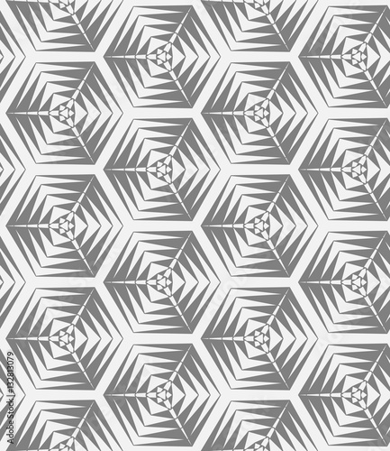 Fototapety, obrazy: Abstract geometry hexagon pattern