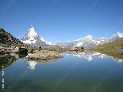 Cadres-photo bureau Reflexion Matterhorn riflesso nel lago