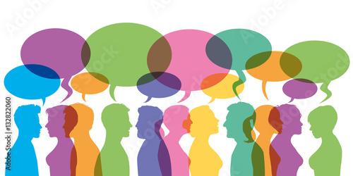 Photo  Bulles - Discussion - communication - forum - dialogue - réseaux sociaux
