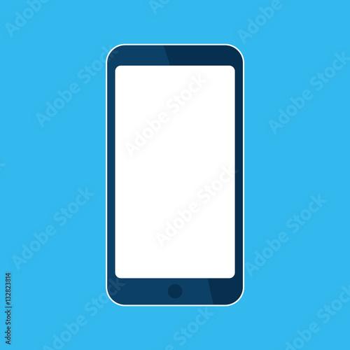Mobile, smart phone icon  Template blank white skreen, mock