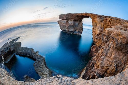 Fotografie, Obraz  Fisheye View of the Azure Window, a natural arched rock in Dwejra, Gozo, Malta