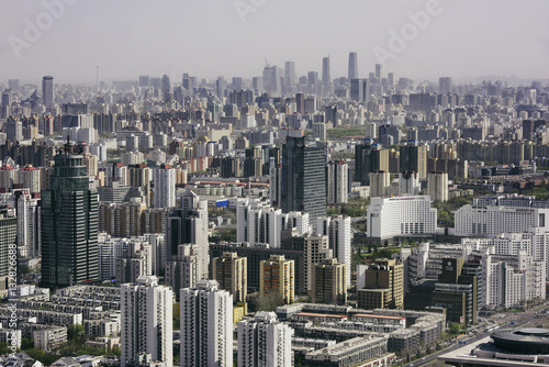 Foto op Canvas Peking Beijing, China - April 7, 2016: Residential buildings in Beijing