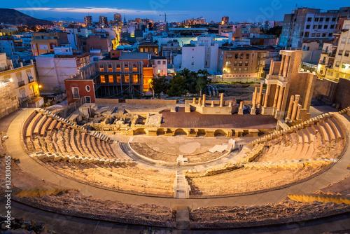 The Roman Theatre in Cartagena, Spain