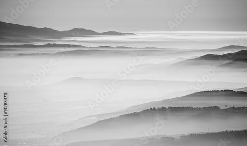 Zdjęcie XXL Czarno-biały krajobraz