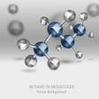Butane Molecules Background
