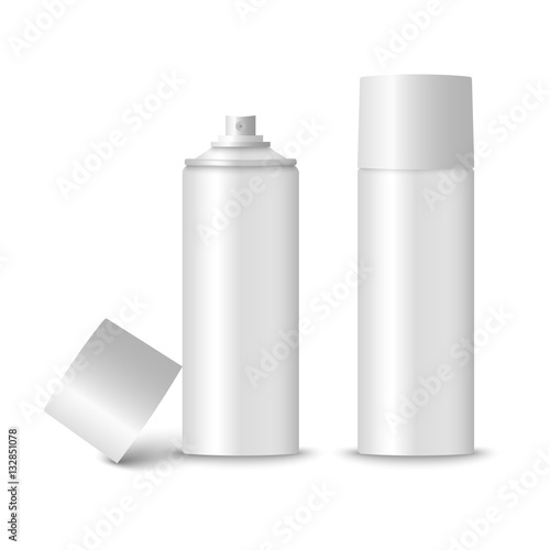 Blank white spray bottle template Wallpaper Mural
