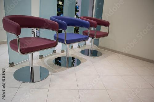 Fényképezés  Le tre poltrone in sala d'attesa