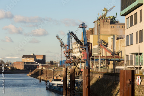 City on the water rhine river harbor neuss germany
