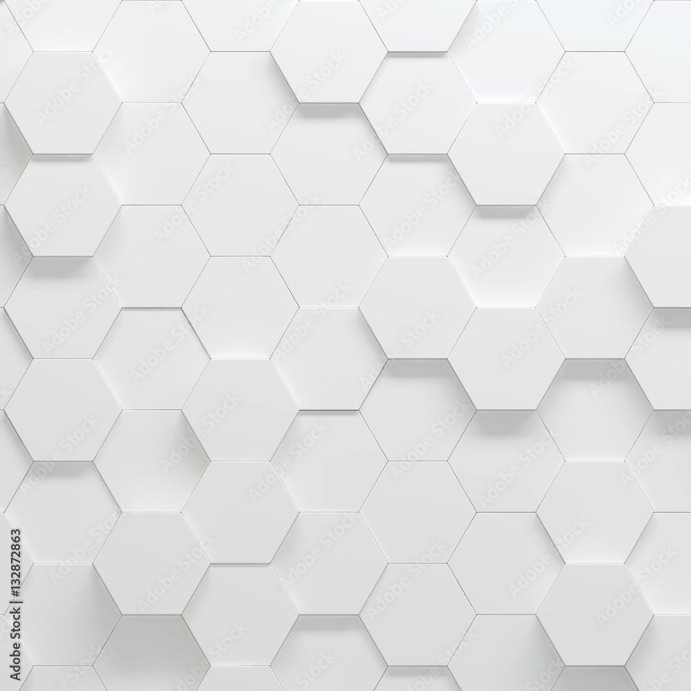 Fototapety, obrazy: Hexagonal parametric pattern, 3d illustration