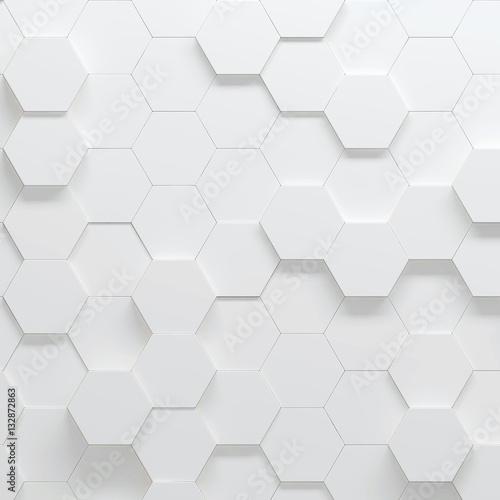 szesciokaty-rownomiernie-rozmieszcone-na-powierzchni-3d