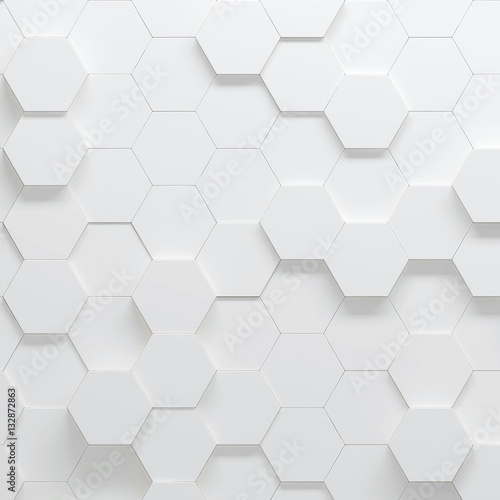 Hexagonal parametric pattern, 3d illustration - 132872863