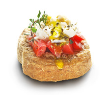 Dakos With Feta Cheese And Tomato