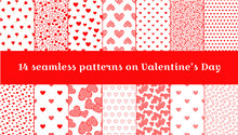 Seamless Pattern On Valentine's Day. Seamless Texture With Hearts, Ideal For Celebrations, Wedding Invitation, Mothers Day And Valentines Day