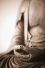 Hands Of Buddha, Antique Carvi...