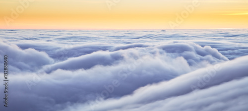 Aluminium Prints Heaven Beautiful sunset above clouds