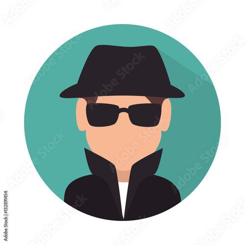 Fotografía  spy avatar isolated icon vector illustration design