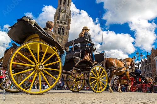 In de dag Brugge Horse carriage in Bruges