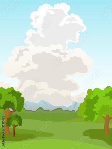 Vector summer landscape.