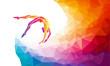 Creative silhouette of gymnastic girl. Art gymnastics vector