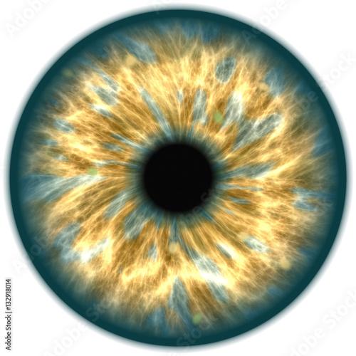 Foto op Aluminium Iris Illustration of a green human iris. Digital artwork creative graphic design.