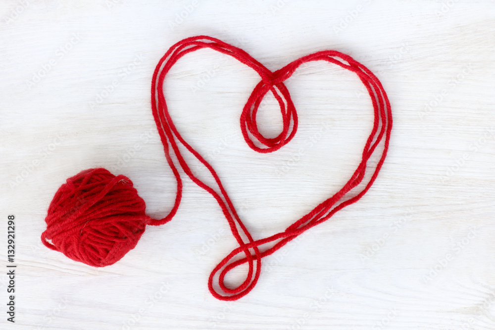 Photo Art Print Untied Love Affection Heart Symbol Of Red Thread