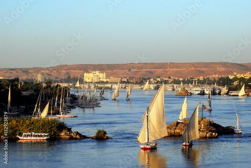 Photo Feluken auf dem Nil bei Assuan