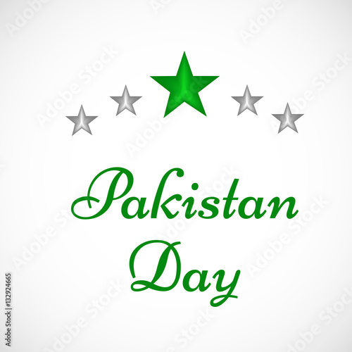 Valokuva  Pakistan's Day background
