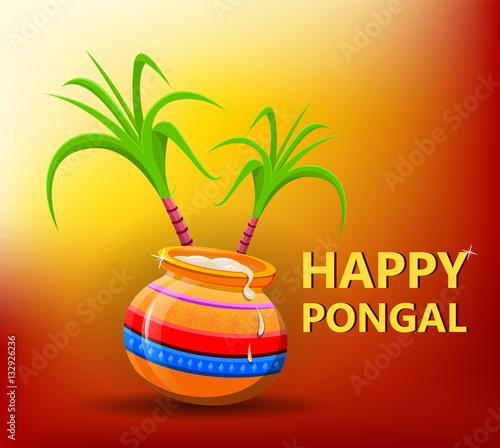 Happy pongal greeting card on beautiful bright sunny background happy pongal greeting card on beautiful bright sunny background makar sankranti happy lohri m4hsunfo