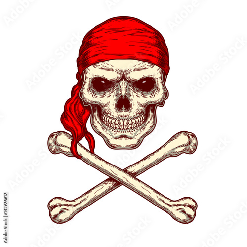 Photo  illustration of a skull and crossbones