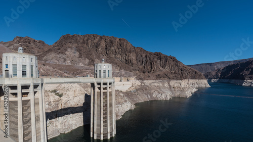 Hoover Dam with clear sky - Buy this stock photo and explore