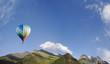 balloon aerostat over the mountains