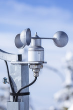 Anemometer Used On Meteorologic Weather Station. The Anemometer