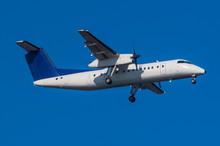 Arriving Regional Turboprop Aircraft