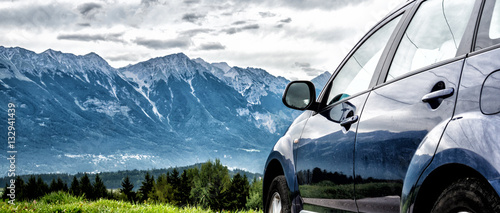 car for traveling Wallpaper Mural