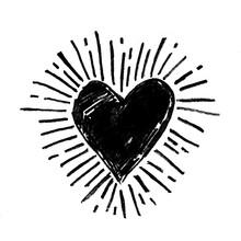 Hand Drawn Grunge Love Heart