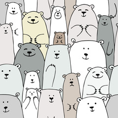 FototapetaBears family, seamless pattern for your design
