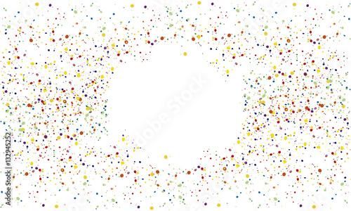 Obraz Konfetti Hintergrund mit Kreis - fototapety do salonu