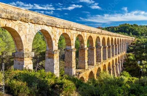 Les Ferreres Aqueduct, also known as Pont del Diable - Tarragona, Spain Wallpaper Mural