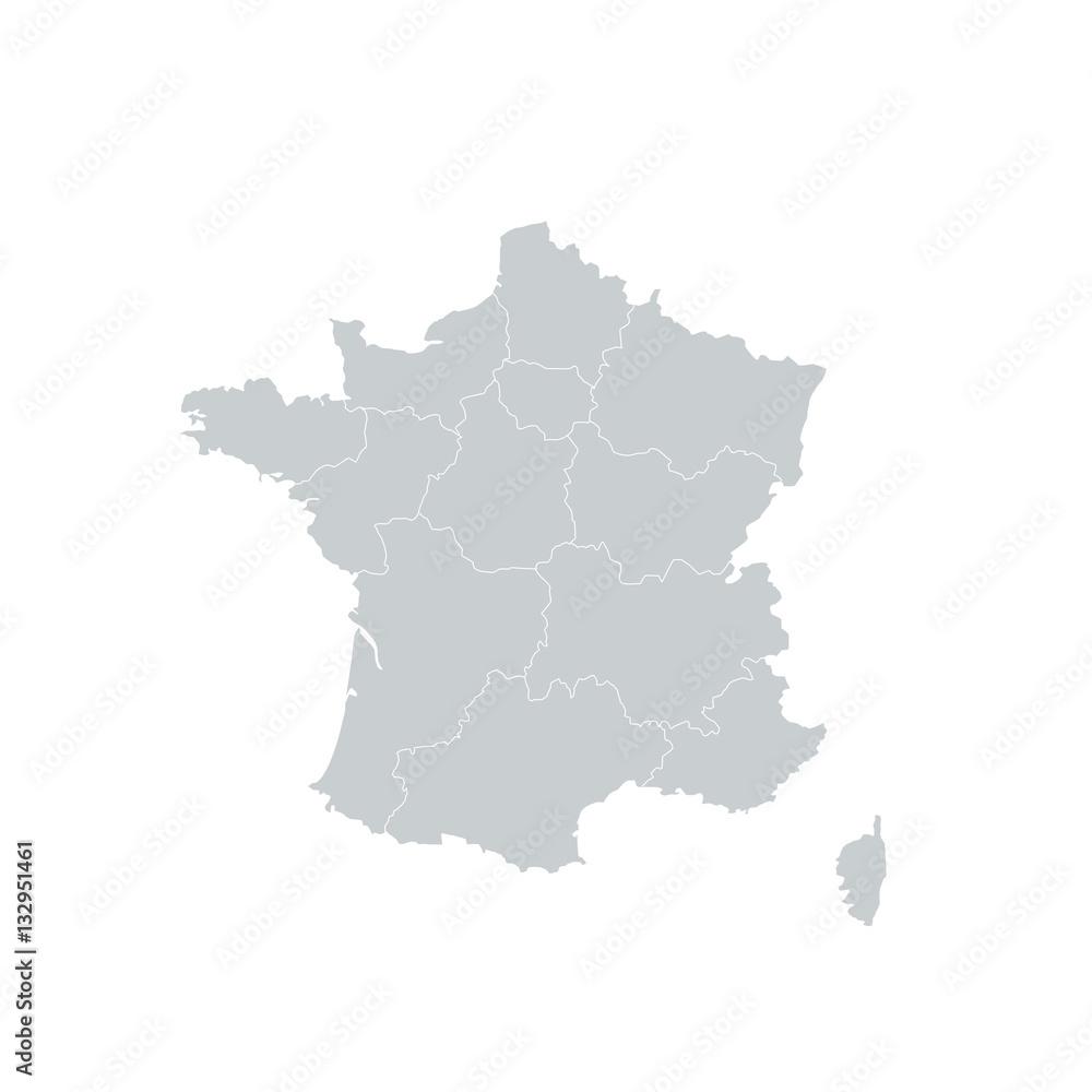 Fototapeta France Regions Map