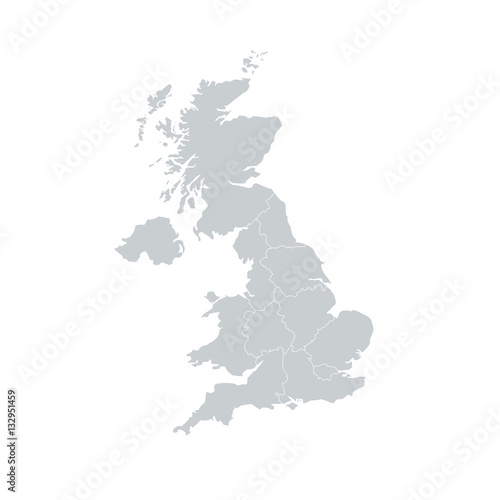 Fotografia United Kingdom UK Regions Map