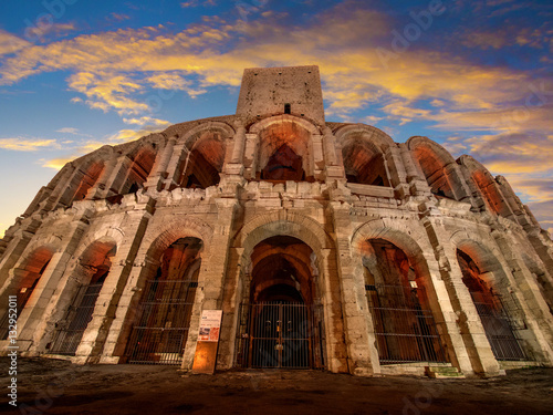 Photo Arena and Roman Amphitheatre, Arles, Provence, France