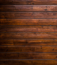 Varnished Wood Background From Cabin Exterior